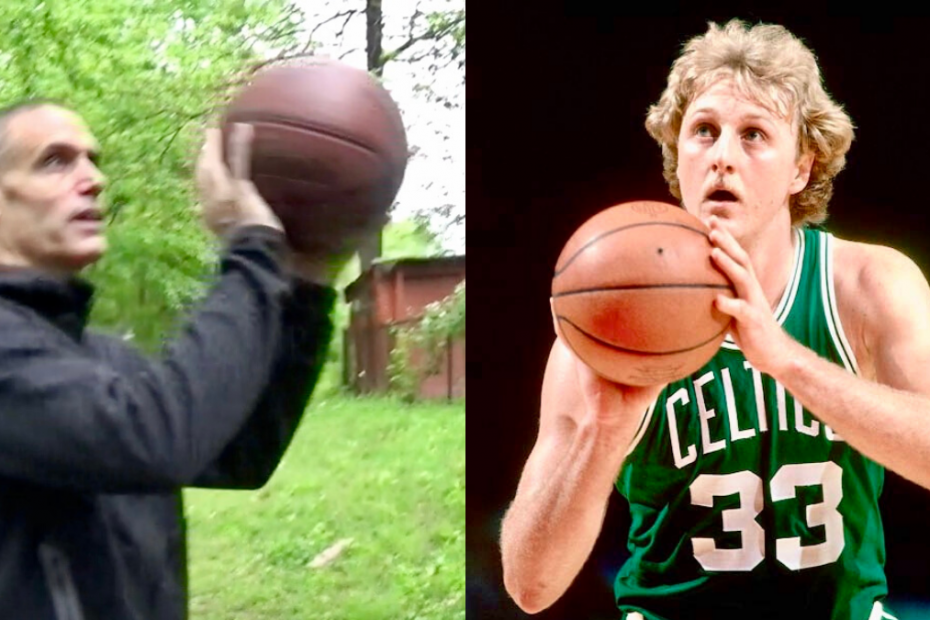 Patrick Rooney and Larry Bird
