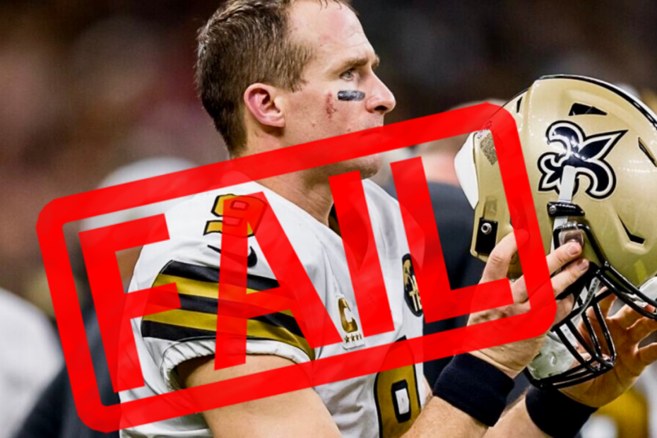 Drew Brees Has FAILED White and Black