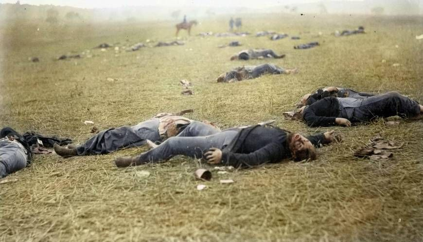 dead Union soldiers at Gettysburg